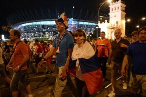 Rosyjscy kibice żegnają Warszawę