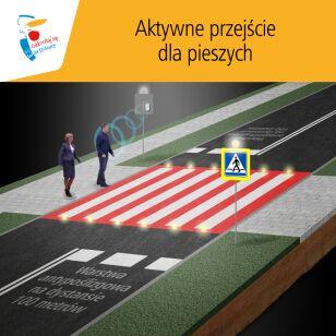 Tak działają aktywne przejścia dla pieszych ZDM
