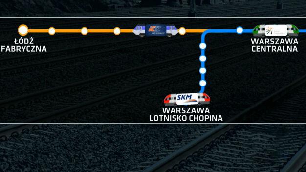 """Pociąg z Łodzi na lotnisko Chopina? Ratusz jest na """"nie"""""""