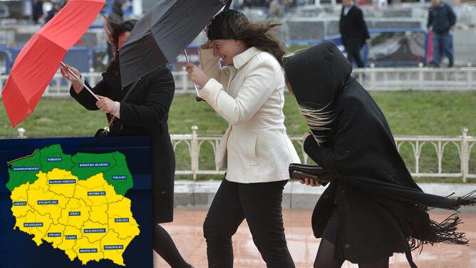 Coraz więcej ostrzeżeń w kraju. <br />Sztorm i niebezpieczny wiatr