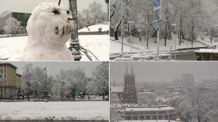 Najwięcej śniegu w Suwałkach. W okolicach Białegostoku awarie prądu
