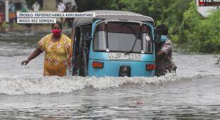 Sri Lankę nawiedziły ulewne opady deszczu