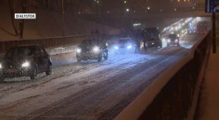 Trudne warunki na drogach w Polsce